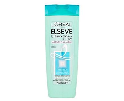 Loreal Paris Šampon pro rychle se mastící vlasy s lupy Elseve (Extraordinary Clay)