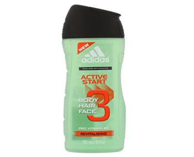 Sprchový gel a šampon pro muže 3 v 1 Hair & Body Active Start (Shower Gel, Shampoo, Face Wash)