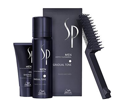 Spumă nuanțatoarepentru păr 60 ml + șampon pentru bărbați 30 ml SP Men (Gradual Tone)
