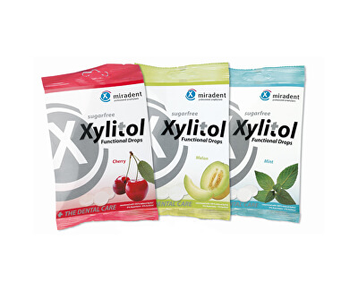 Miradent Zubům prospěšné pastilky Xylitol Drops 60 g