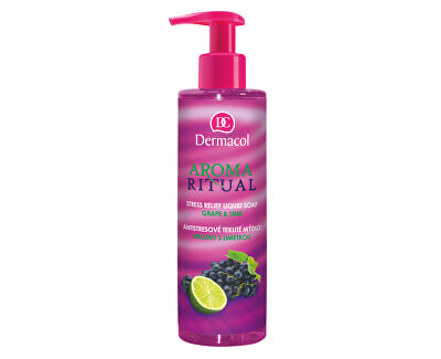 Antistresové tekuté mýdlo hrozny s limetkou Aroma Ritual (Stress Relief Liquid Soap)