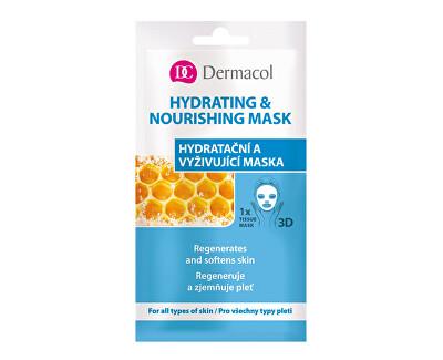 Textilní hydratační a vyživující maska pro všechny typy pleti 3D (Regenerates Softens Skin) 1 ks