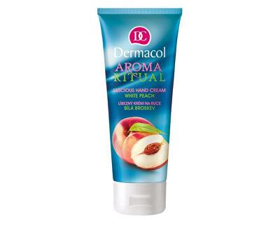 Líbezný krém na ruce bílá broskev Aroma Ritual (Hand Cream White Peach)