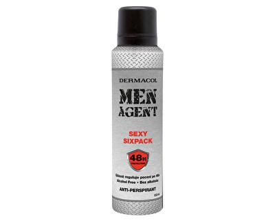 Antiperspirant Men Agent Sexy Sixpack 150 ml - SLEVA - bez víčka