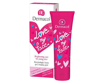 Regenerační a rozjasňující krém pro mladou pleť s vůní malin a lesního ovoce Love My Face (Brightening Cream) 50 ml