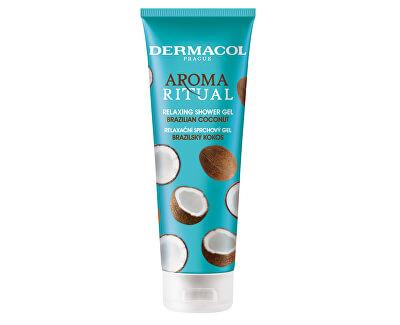 Gel de duș relaxant Cocos BrazilianAroma Ritual (Relaxing Shower Gel) 250 ml
