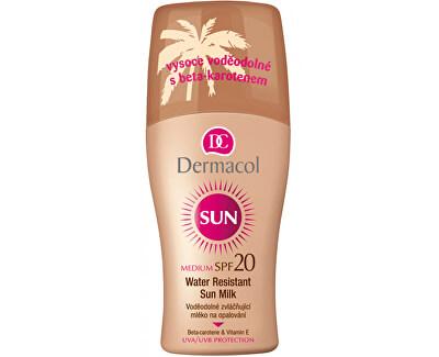 Dermacol Voděodolné zvláčňující mléko na opalování ve spreji SPF 20 Sun (Water Resistant Sun Milk) 200 ml