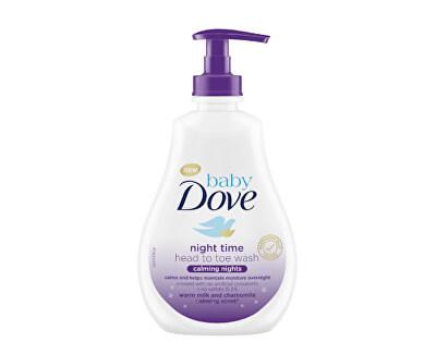Mycí gel na tělo a vlásky s vůní heřmánku Calming Nights Baby (Night Time Head To Toe Wash) 400 ml