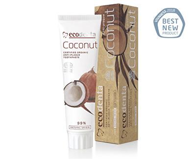 Ecodenta BIO zubní pasta proti zubnímu plaku s kokosovým olejem (Certified Organic Anti-plaque Toothpaste) 100 ml