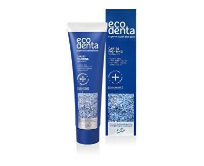 Ecodenta Pečující zubní pasta s limetkou, listy koriandru a xylitolem (Caries Fighting Toothpaste) 100 ml