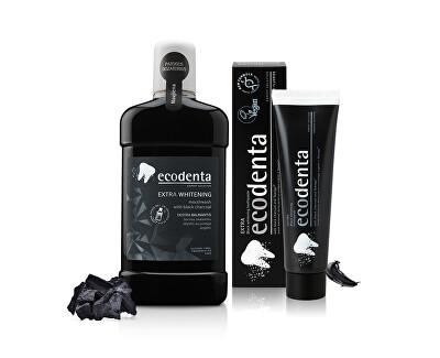 Ecodenta Zvýhodněné balení Extra bělicí ústní voda + Černá bělicí zubní pasta