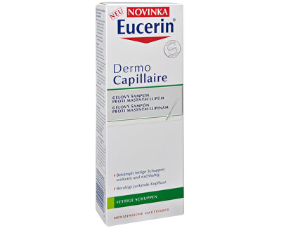 Gelový šampon proti mastným lupům DermoCapillaire 250 ml