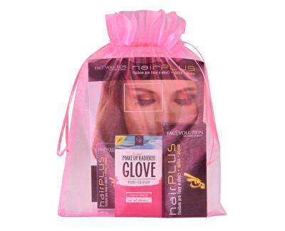 Dárková sada Růstové sérum pro řasy a obočí Hairplus 4,5 ml + Odličovací rukavice