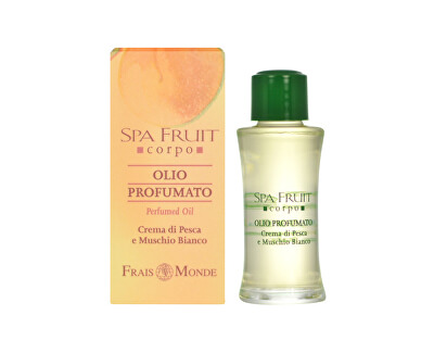 Frais Monde Parfémovaný olej Broskev a bílý mošus (Spa Fruit Peach And White Musk Perfumed Oil) 10 ml