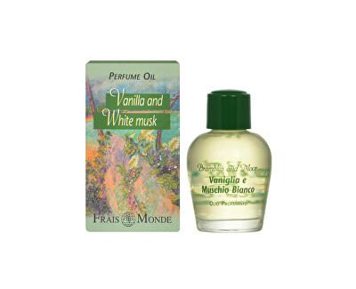 Frais Monde Parfémovaný olej Vanilka a bíly mošus (Vanilla And White Musk) 12 ml