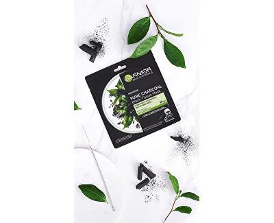 Čierna textilná maska s extraktom z morských rias Pure Charcoal Skin Natura l s (Black Tissue Mask) 28 g