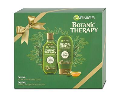 Garnier Dárková sada s olivovým olejem na suché a poškozené vlasy Botanic Therapy