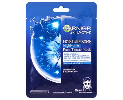 Hydratační regenerační noční textilní maska Moisture Bomb Night-time (Face Tissue Mask) 32 g