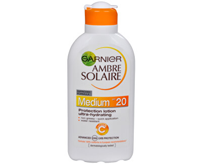 Garnier Opalovací mléko Ambre Solaire SPF 20 (Protection Lotion Ultra-Hydrating) 200 ml