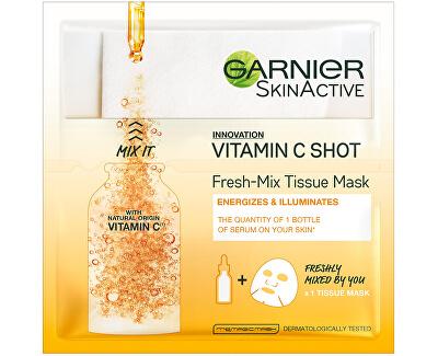 Textilná maska s vitamínom C pre hydratovanú a žiarivú pleť Fresh Mix (Tissue Mask) 33 g
