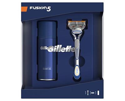 Kosmetická sada pro muže Fusion strojek + Sensitive gel 75 ml