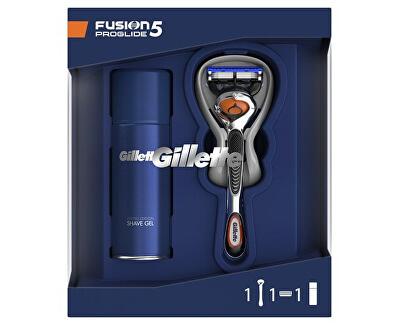 Oblíbená sada na holení Fusion5 ProGlide Holicí strojek + Gel na holení Sensitive 75 ml