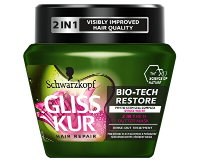 Regenerační maska na vlasy 2v1 Bio-Tech Restore (2 in 1 Rich Butter Mask) 300 ml
