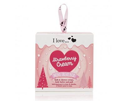 I Love Dárková sada s vůní jahod s krémem Mini Treat Box Strawberry Cream