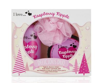 I Love Dárková sada s vůní malin Raspberry Ripple (Delicious Duo)
