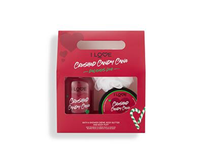 Kosmetická sada s vůní cukrovinek Crushed Candy Cane Delicious Duo - SLEVA - poškozená krabička