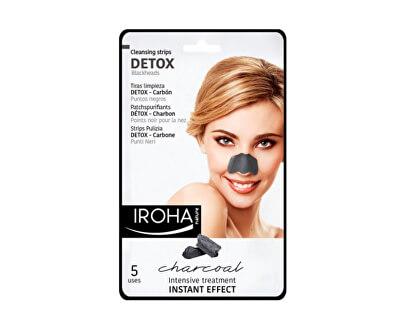 Iroha Čisticí proužky na nos s dřevěným uhlím (Detox Cleansing Strips Charcoal) 5 ks