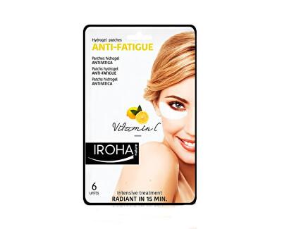 Iroha Hydrogelové polštářky pod oči pro unavenou pleť svitamínem C (Anti-Fatigue Hydrogel Patches Vitamin C) 6 ks