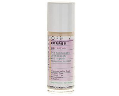Korres 24hodinový roll-on dezodorant s prasličkou pre citlivú pokožku 30 ml