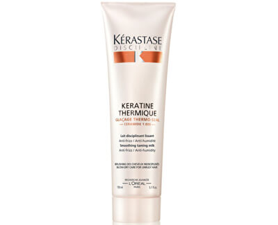 Uhlazující mléko pro nepoddajné a krepatějící se vlasy Discipline (Keratine Thermique Milk) 150 ml - SLEVA - poškozená krabička