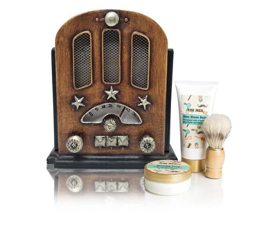 Kosmetická sada na holení pro muže retro rádio (Radio Retro Shaving Set)