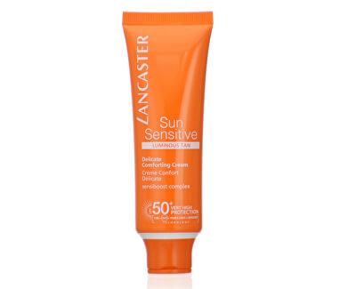 Cremă pentru bronzare pentru față si pentru pielea sensibilă SPF 50+ Sun Sensitive (Delicate Comforting Cream) 50 ml