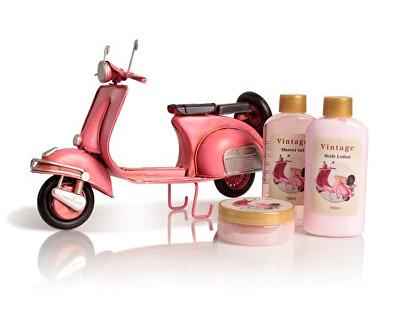 Sada tělové kosmetiky do koupele Pink Vespa Rosa (Shower Set Rose) - SLEVA - poškozená krabička