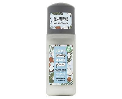Osvěžující deodorant roll-on bez alkoholu a hliníku s kokosovou vodou a květy mimózy (Refreshing Deodorant) 50 ml