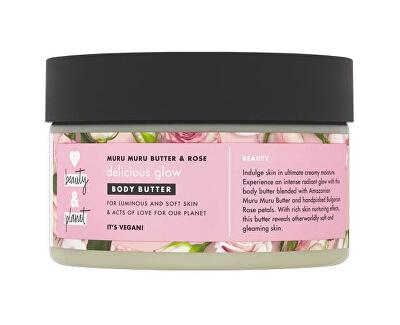 Tělové máslo s růžovým olejem a máslem muru muru (Delicious Glow Body Butter) 250 ml