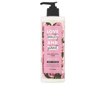 Tělové mléko s růžovým olejem a máslem muru muru (Delicious Glow Body Lotion) 400 ml