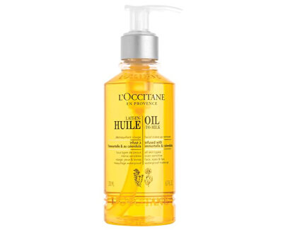 Odličovací olej s měsíčkem a slaměnkou pro zářivý vzhled pleti (Oil to Milk Mak-Up Remover) 200 ml