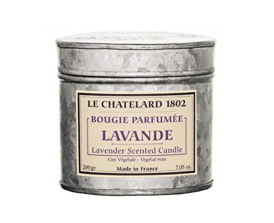 Le Chatelard Svíčka v zinkové krabičce s víčkem Levandule 200 g