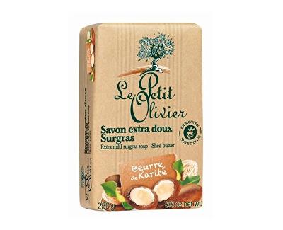 Le Petit Olivier Extra jemné přírodní mýdlo Bambucké máslo (Extra Mild Surgras Soap) 250 g