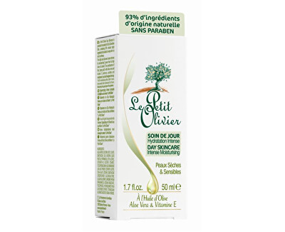 Le Petit Olivier Hydratační denní pleťový krém s olivovým olejem 50 ml