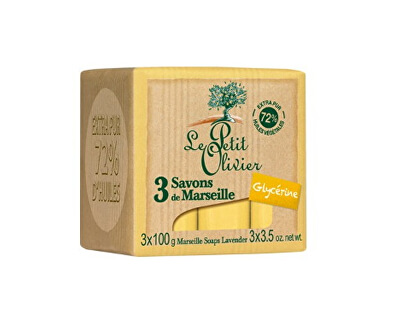 Marseillské mýdlo s glycerinem (Marseille Soaps) 3 x 100 g
