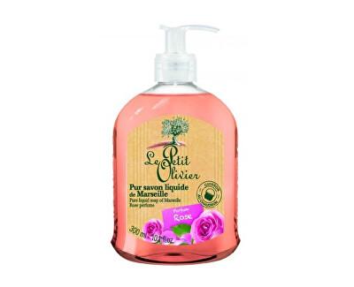 Le Petit Olivier Přírodní tekuté mýdlo s olivovým olejem Růže (Pure Liquid Soap) 300 ml