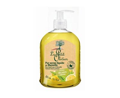 Le Petit Olivier Přírodní tekuté mýdlo s olivovým olejem Verbena a citrón (Pure Liquid Soap) 300 ml