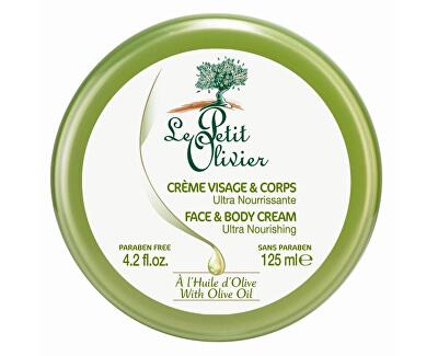 Le Petit Olivier Ultra vyživující tělový a pleťový krém s olivovým olejem 125 ml