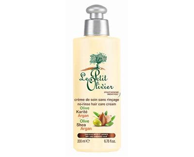 Bezoplachový pečující krém na vlasy Olivový olej, bambucké máslo a arganový olej 200 ml