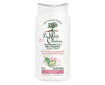 Zjemňující šampon pro normální vlasy Mandlové mléko a rýžový krém (Milk Shampoo) 250 ml